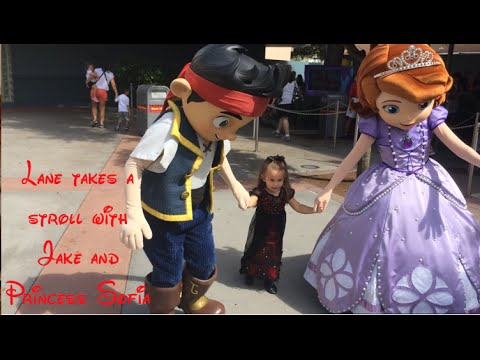 Lane takes a stroll with Disney Junior Princess Sofia and Jake