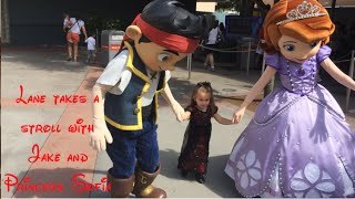 Lane takes a stroll with Disney Junior Princess Sofia and Jake