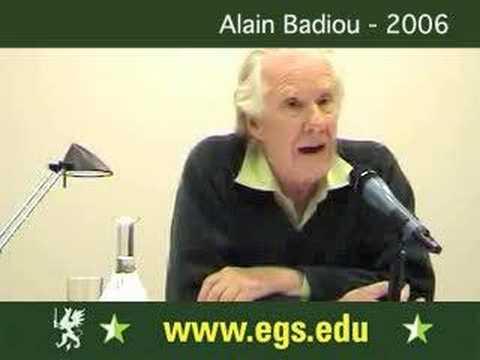 Alain Badiou. Democracy, Politics and Philosophy 2006 1/5