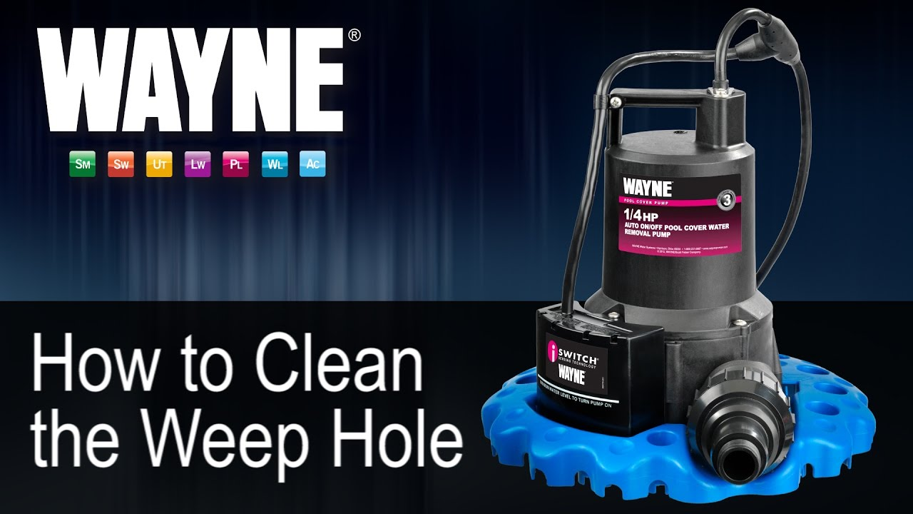 How To Clean The Weep Hole In The Wapc250 Youtube