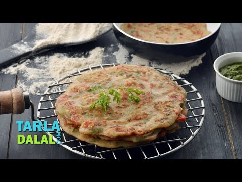 Instant Whole Wheat Vegetable Dosa by Tarla Dalal