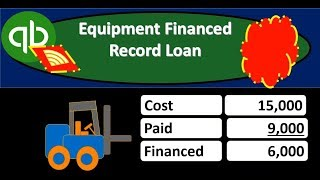 QuickBooks Online 2019-Equipment Financed Record Loan