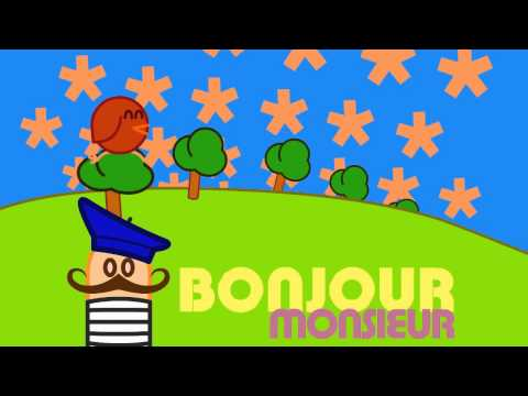 Bonjour Monsieur : animated music video : MrWeebl