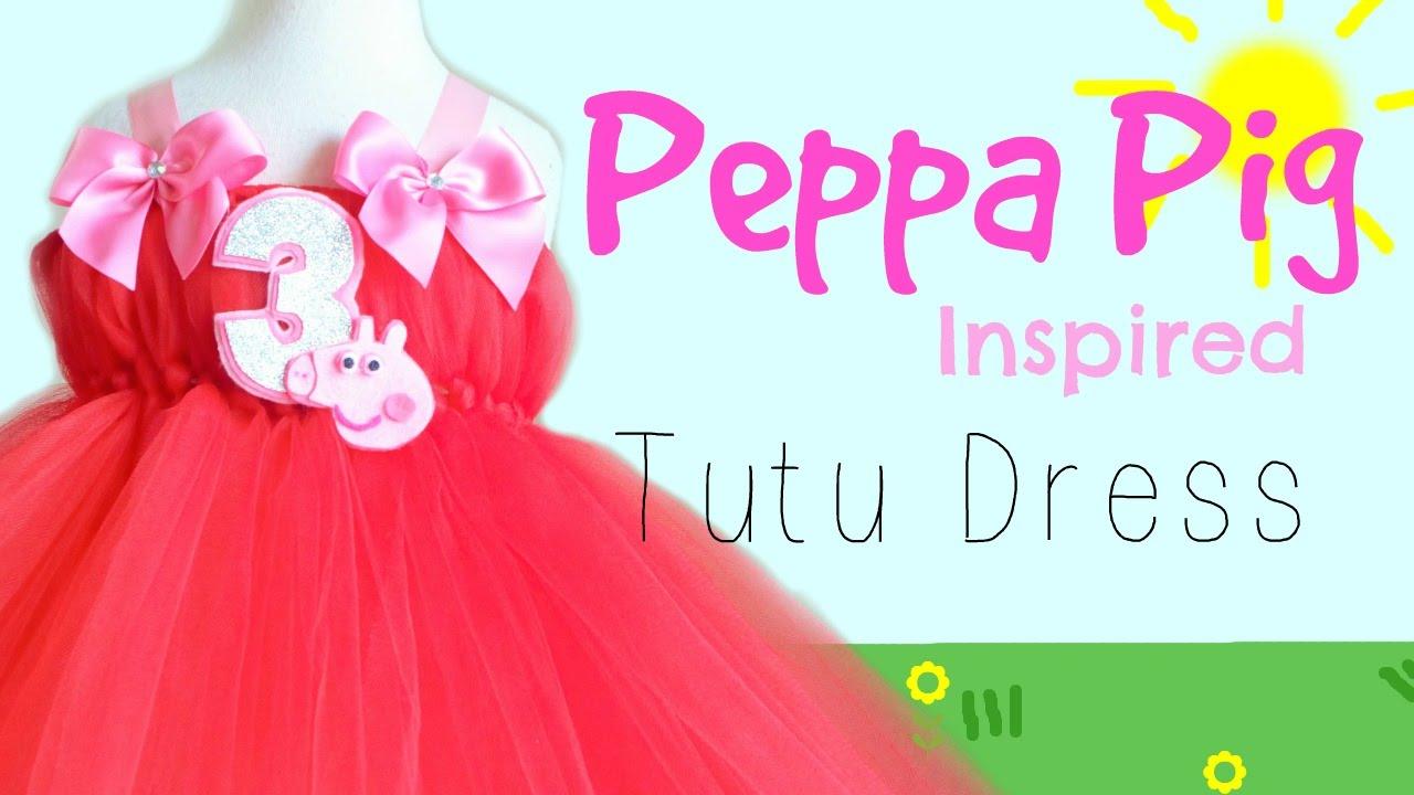 Peppa Pig Inspired Birthday Tutu Dress Youtube