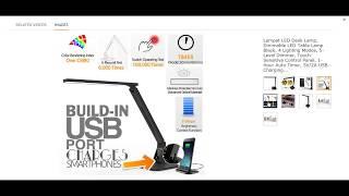 Lampat LED Desk Lamp, Dimmable LED Table Lamp Black, 4 Lighting Modes, 5-Level Dimmer