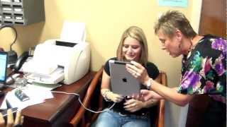 Repeat youtube video Our beautiful Amy hears her sister's voice for the first time!