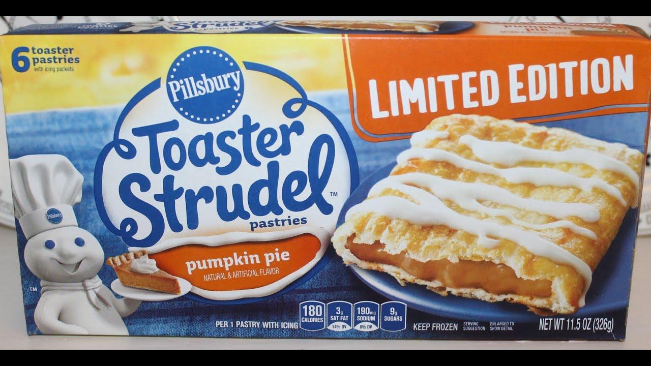 Pumpkin Pie Toaster Strudel Taste Test Amp Review Youtube