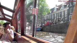 Речной трамвай Амстердам River tram Amsterdam(Речной трамвай по Амстердаму в Голландии. Поездки за рубеж из России, зарубежные поездки. Скандинавия,..., 2015-05-17T14:56:56.000Z)