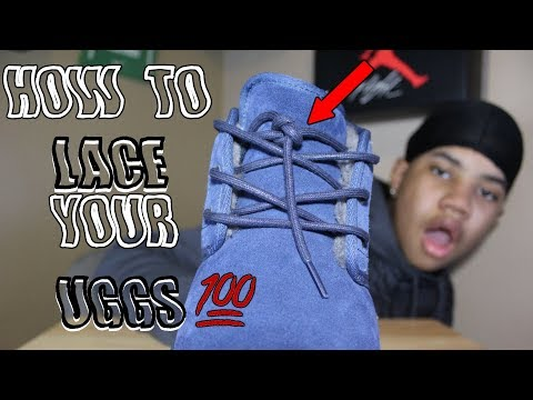 How To: Lace Men Uggs🤘🔥| TimooGotNext