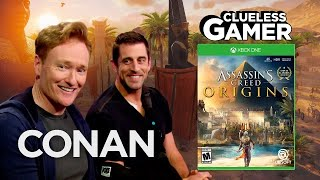 "Clueless Gamer: ""Assassin's Creed Origins"" With Aaron Rodgers  - CONAN on TBS"