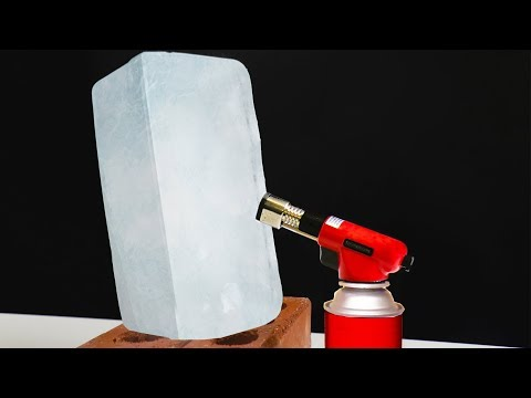 ICE VS 3,000 DEGREE GAS TORCH