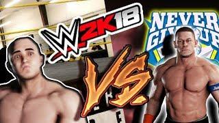 WWE 2K18 - 0 OVERALL SUPERSTAR VS JOHN CENA