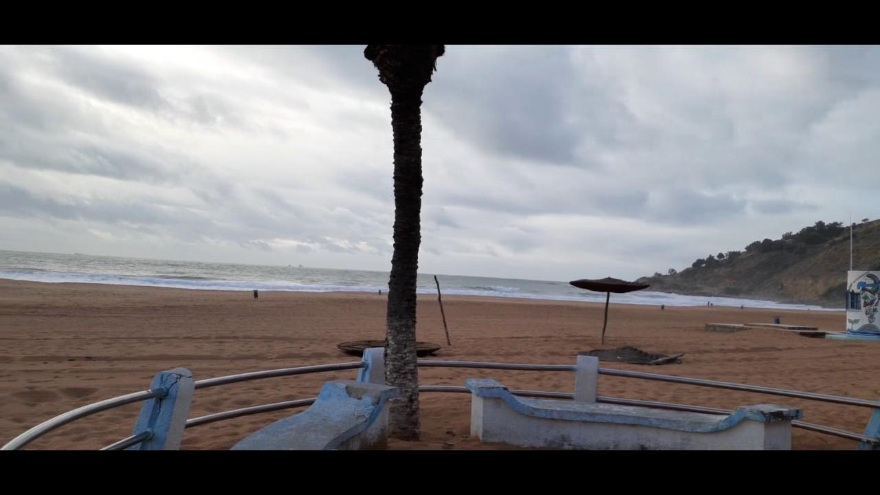 جولة في شاطئ مدينة اسفي الجميل في فصل الشتاء مناظر رائعة ...