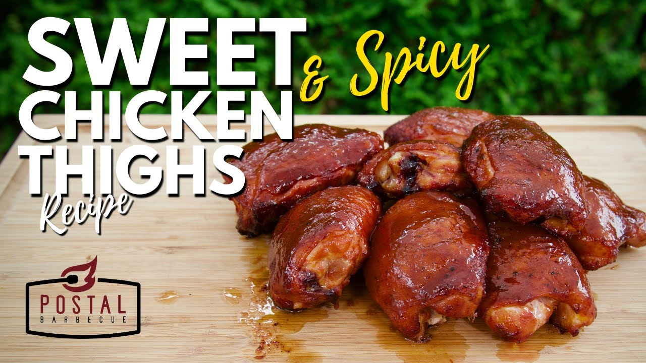 Smoked Chicken Thighs - Sweet and Spicy Chicken in the Pit Barrel Cooker