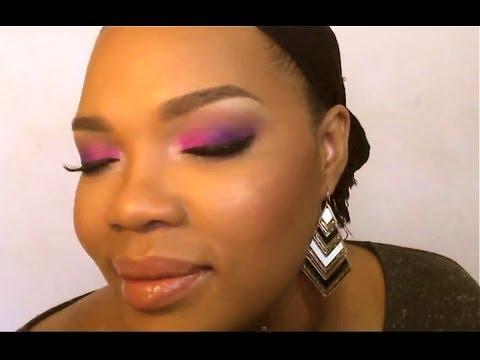 Maquillage Rose et Violet
