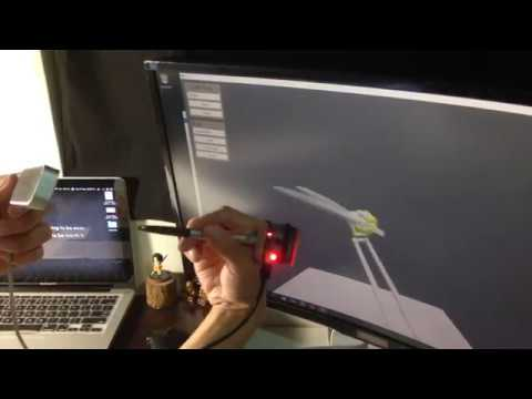 VR Position and Orientation Tracking for small object (Leap Motion Controller and IMU)