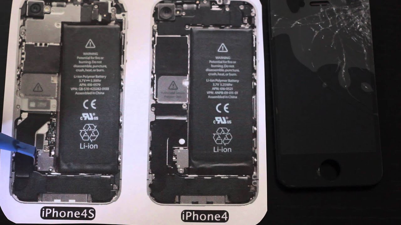 Soldering in an iPhone 4 battery connector after damage - YouTube