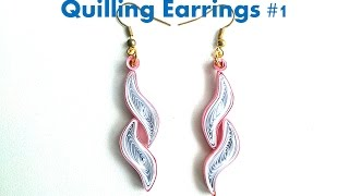 How to make Simple Quilling Earrings Using Paper Quilling #1 -DIY Paper Earrings