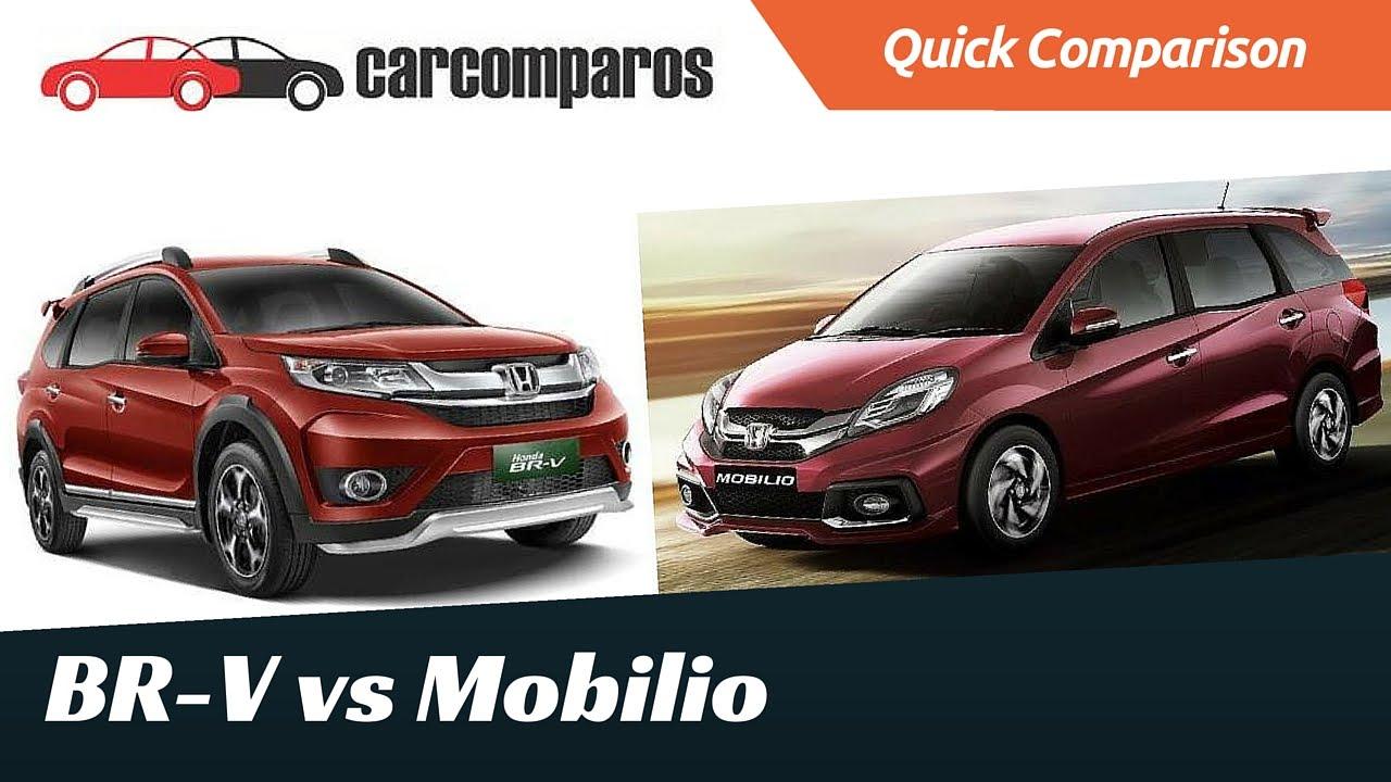 Honda Brv Vs Mobilio Comparison Review Youtube