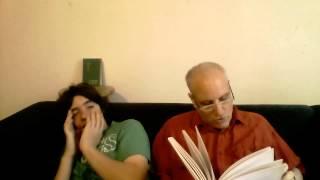 Markos uses his new monolingual Greek dictionary