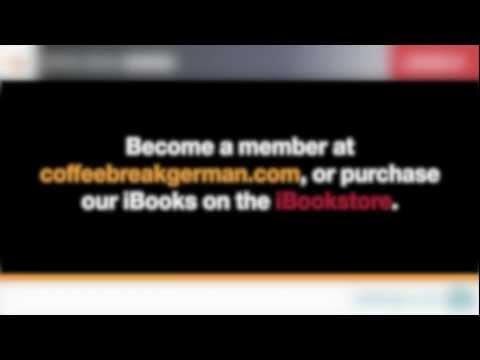 Coffee Break German Lesson 01 (Free audio version)