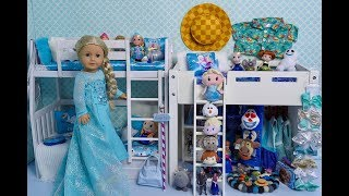 Baby Doll Bedroom for American Girl Doll Frozen Elsa!