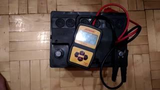 Проверка пускового тока на АКБ  Автофан 60 Ач