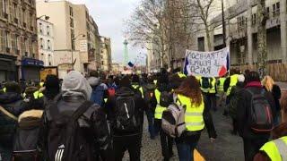"""""""Gilets jaunes"""": à Paris, manifestation entre Bercy et Bastille"""
