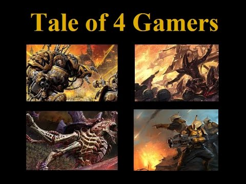 Tale of 4 Gamers. Month 1. Warhammer 40k slow grow campaign.