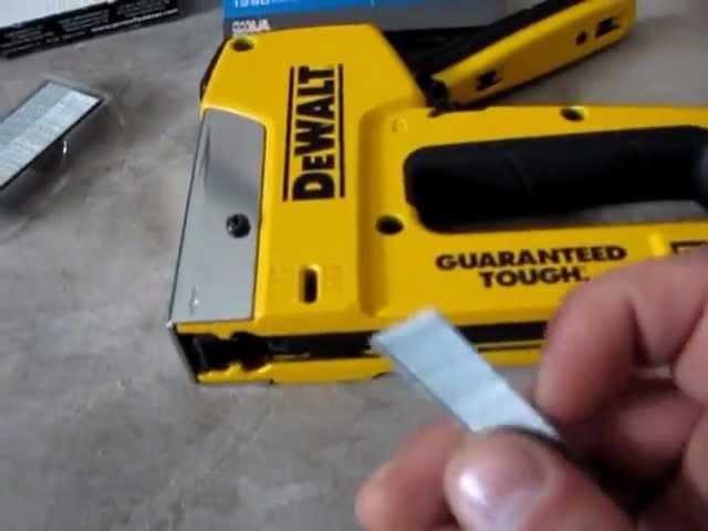 Dewalt Staple And Nail Gun Youtube