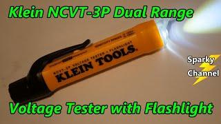 Klein New NCVT-3P Dual Range Non-Contact Voltage Tester with Flashlight