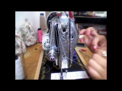 4b5b4f3ffb113 Como passar a linha na Elgin pretinha e manuseio da máquina. - YouTube