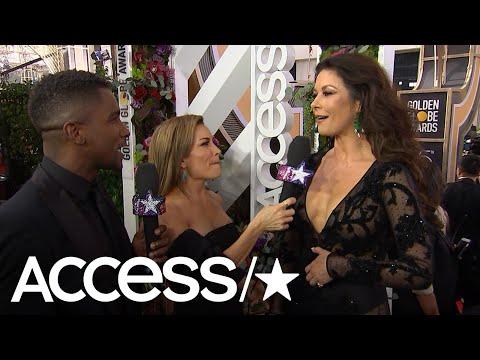 Catherine Zeta-Jones Is 'Star-Struck' At The 2018 Golden Globe Awards | Access