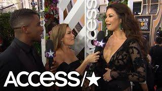 Catherine Zeta-Jones Is 'Star-Struck' At The 2018 Golden Globe Awards   Access