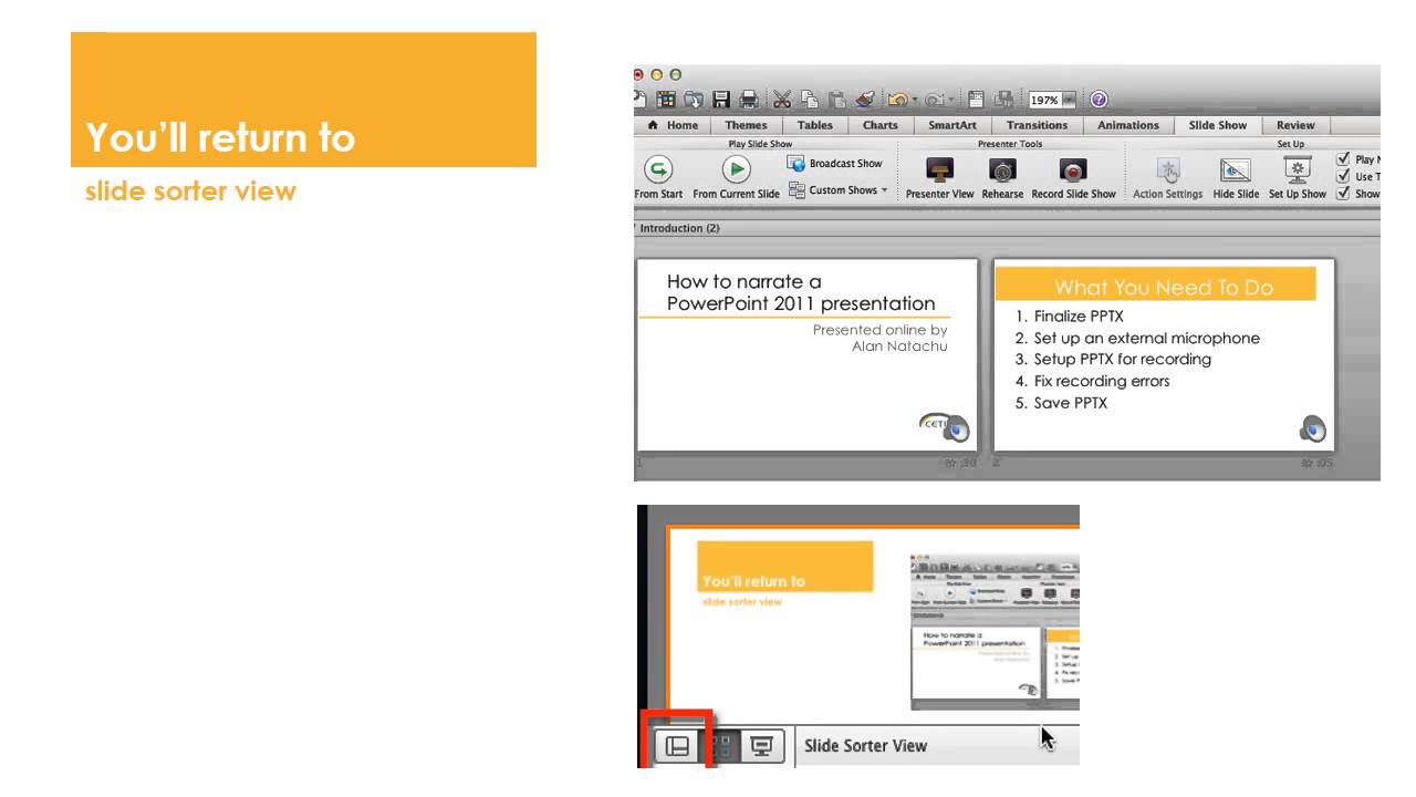 How to narrate a powerpoint 2011 for mac presentation youtube how to narrate a powerpoint 2011 for mac presentation ccuart Images