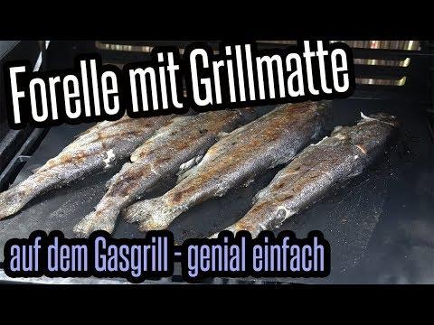 forelle-mit-grillmatte-vom-gasgrill---fisch-super-lecker-&-einfach---grillen-für-jedermann