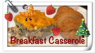 Sausage Egg Bake Recipe | Christmas Breakfast Idea 🎄