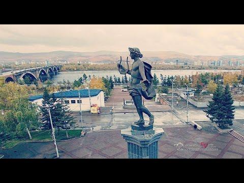 Осенний Красноярск с высоты
