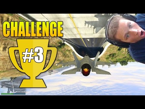 Fly a Jet Upside Down through the Tunnel! - Grand Theft Auto 5 Challenge #3 (GTA Online Gameplay) poster