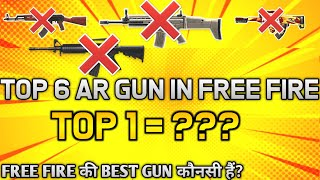 TOP 6 BEST LONG RANGE GUNS FOR TOURNAMENT - #JONTYGAMING - GARENA FREEFIRE BATTLEGROUND