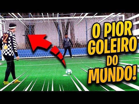 DESAFIO DE PÊNALTI COM O PIOR GOLEIRO DO MUNDO!!!!
