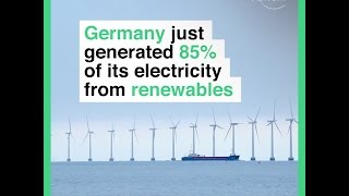 Germany just generated 85% of its electricity from renewables