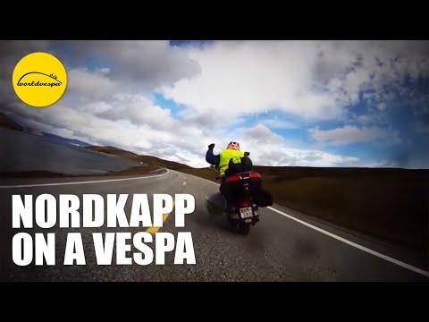 Vespa travel Nordkapp, Norway (motorcycle trip FULL)