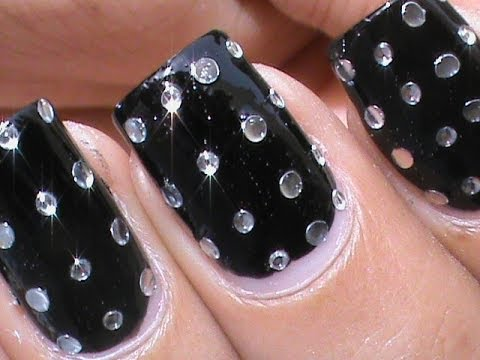 Rhinestone nail art designs youtube rhinestone nail art designs prinsesfo Image collections