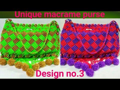 Diy Macrame Purse Ladies Hand Bag Making Full Tutorial