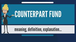 What is COUNTERPART FUND? What does COUNTERPART FUND mean? COUNTERPART FUND meaning