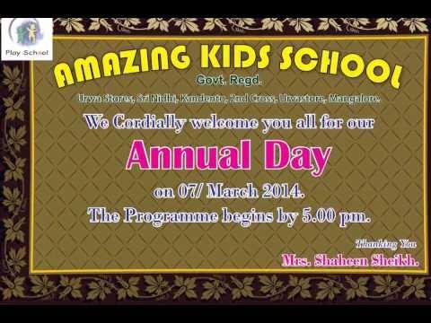 Annual Day Invitation Youtube