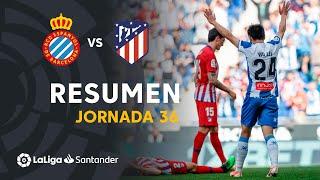 Resumen de RCD Espanyol vs Atlético de Madrid (3-0)