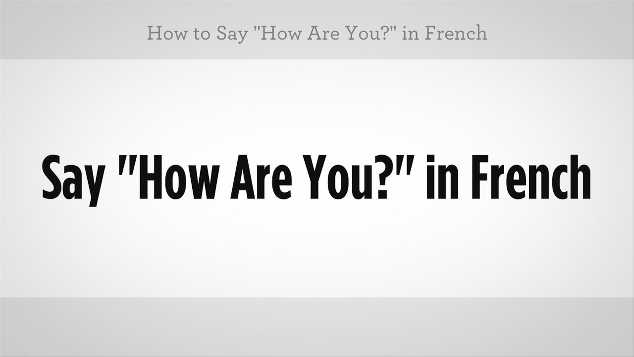 How Do You Say Laugh French