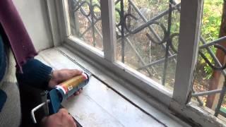 Как замазать щель акриловым герметиком(При работе со старыми деревянными окнами оконная замазка или тот же акриловый герметик - самое то. Вот толь..., 2014-10-01T19:54:17.000Z)